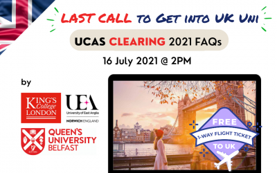PDVL UCAS Clearing 2021 (16 July 2021)